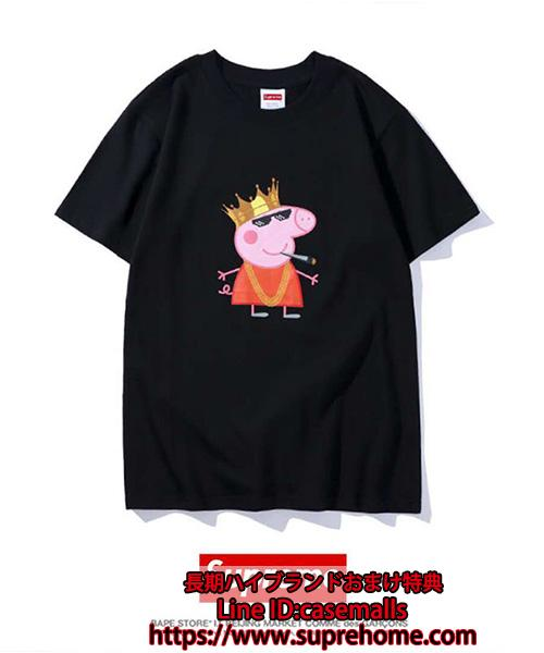 Supreme X Pink Panther Tシャツ ペッパピッグ