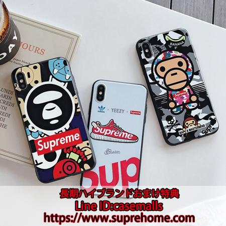 Supreme Paul Frankグラフィティ風黒枠ケース