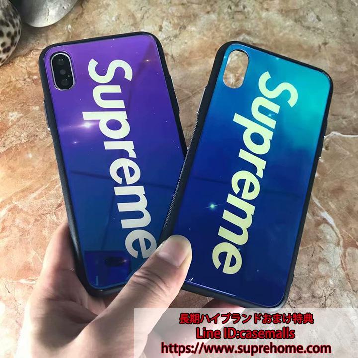 夜光 iPhoneX ケース シュプリーム