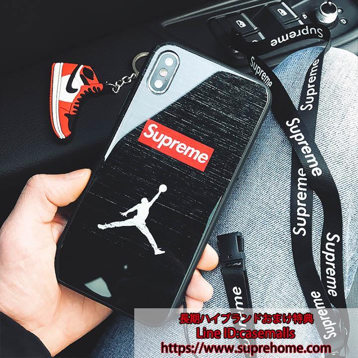 ジョーダン シュプリーム コラボ iPhoneX ガラスケース