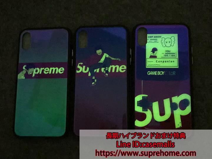 iPhone8 プラスケース supreme 鏡面