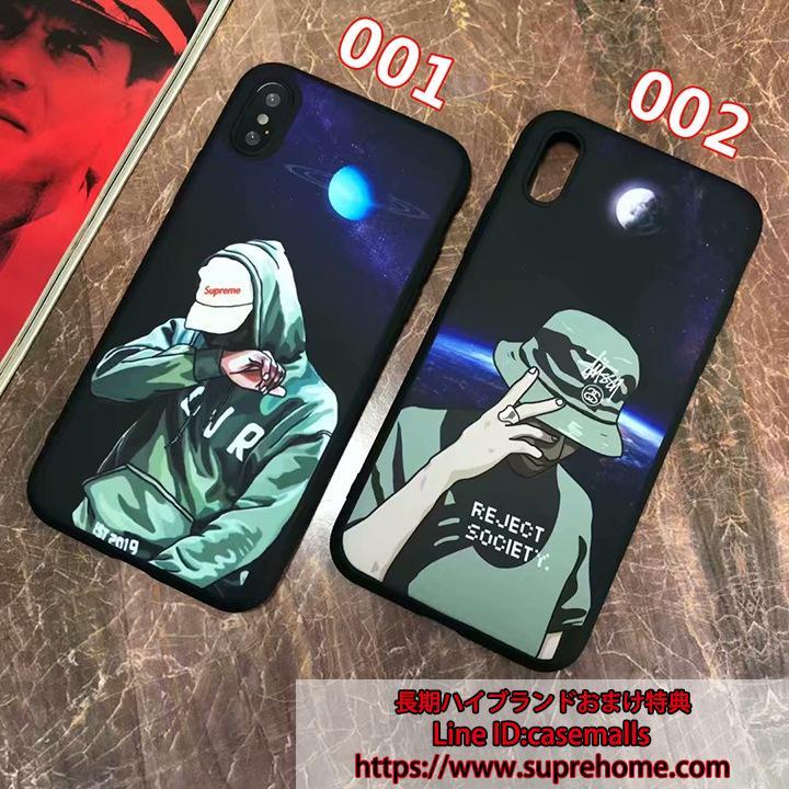 夜光 SUPREME STUSSY コラボ iPhoneX ケース