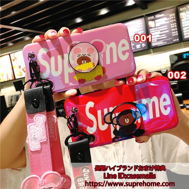 可愛い SUPREME iPhoneテンケース
