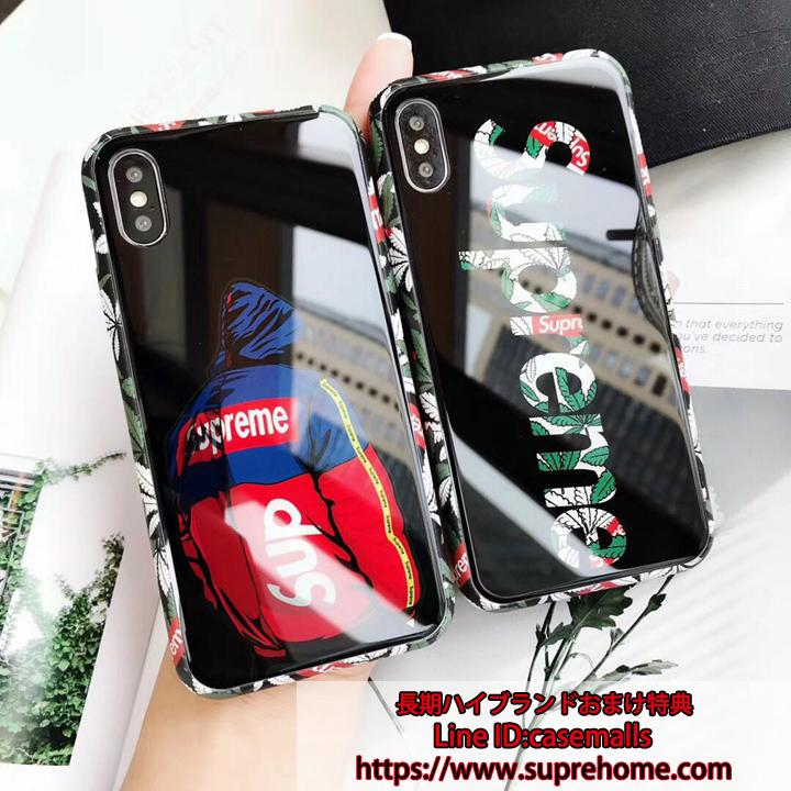 鏡面 supreme iphonex ガラスケース
