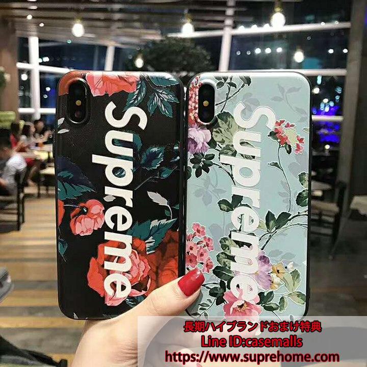 シュプリーム 花柄 iPhoneXケース