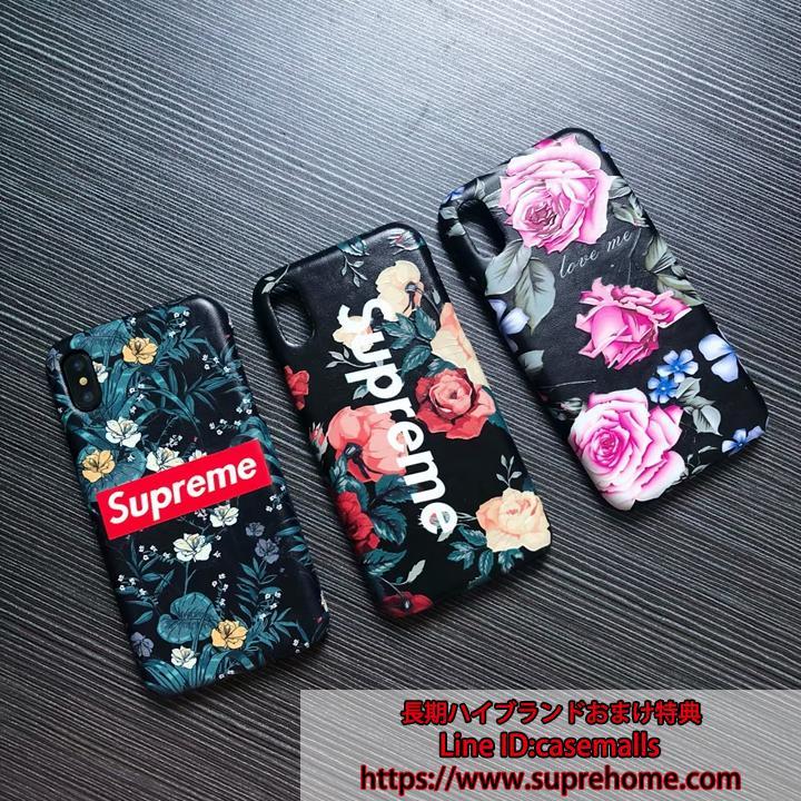 花柄 SUPREME iPhoneXsケース