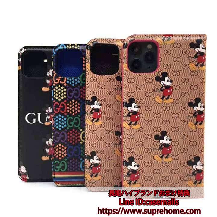 【在庫あり】gucci ミッキーコラボ iphone12/12miniケース カワイイ グッチ ディズニー iPhone12pro/12pro maxケース mickey GUCCI iPHONE11/11proケース マンガ 若者向け ファッション