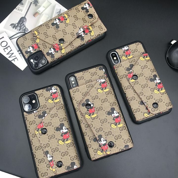 スマホケース カード収納 グッチ 背面 手帳型 アイフォン12ケース 人気 gucci ミッキー iphone12pro ケース 可愛い iphone12pro max ケース 耐 衝撃 iphone12miniケース ディズニー ぺア 大人
